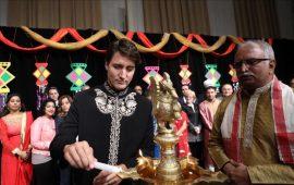 Twitter slams Canadian PM for wishing 'Diwali Mubarak'