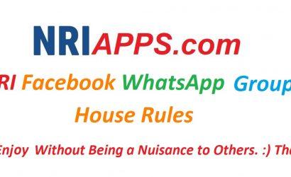 NRI Facebook WhatsApp Group House Rules